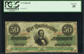 Confederate Notes:1863 Issues, T57 $50 1863 PF-2 Cr. 407.. ...