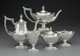 A Five-Piece Gorham Mfg. Co. Plymouth Pattern Partial Gilt Silver Tea and Coffee Service, Providence, Rhode Isla... (Tot...