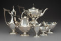 Silver Holloware, American:Tea Sets, A Six-Piece Gorham Mfg. Co. Plymouth Pattern Tea and CoffeeService, Providence, Rhode Island, early 20th centur... (Total: 6Items)