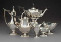 A Six-Piece Gorham Mfg. Co. Plymouth Pattern Tea and Coffee Service, Providence, Rho