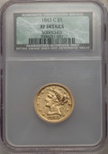 1843-C $5 -- Scratched -- NCS. XF Details. NGC Census: (23/105). PCGS Population: (22/80). CDN: $2,100 Whsle. Bid for pr...