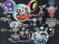 Prints & Multiples, Takashi Murakami (b. 1962). Hands Clasped, 2015. Offset lithograph in colors on smoothe wove paper. 25-7/8 x 34-1/2 inch...