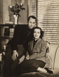 Photographs, George Hurrell (American, 1904-1992). Portrait of Joan Crawford and Franchot Tone, circa 1930s. Gelatin silver. 13-5/8 x...