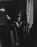 Photographs:Gelatin Silver, Roy Schatt (American, 1909-2002). James Dean, on set of TheThief, 1954. Gelatin silver. 17-3/4 x 14 inches (45.1 x 35.6...