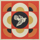 Shepard Fairey (b. 1970) Dove Geometric (Red, Gold, and Cream) (three works), 2017 Screenprints in colors along lower...