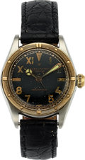 "Timepieces:Wristwatch, Rolex, Firefly Ref: 3121, Steel and Gold Oyster, ""Cali Dial"", Circa 1942. ..."