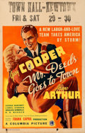 "Movie Posters:Comedy, Mr. Deeds Goes to Town (Columbia, 1936). Window Card (14"" X 22"")....."