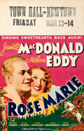 """Movie Posters:Musical, Rose Marie (MGM, 1936). Window Card (14"""" X 22"""").. ..."""