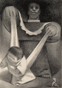 Jean Charlot (1898-1979) First Steps, 1946 Lithograph on wove paper 14 x 9-7/8 inches (35.6 x 25
