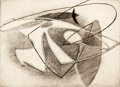 Prints & Multiples, Stanley William Hayter (1901-1988). Woman in a Net, 1934. Engraving, scorper and soft-ground etching on paper. 8-1/2 x 1...