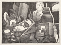 Jean Charlot (1898-1979) The Tortilla Makers, 1951 Lithograph on wove paper 9-7/8 x 13-1/2 inches