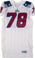 Football Collectibles:Uniforms, 1997 Bruce Armstrong Game Worn & Signed New England Patriots Jersey....