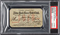 Baseball Collectibles:Tickets, 1918 New York Giants Season Pass, PSA Authentic....