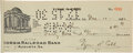 Autographs:Checks, 1930 Ty Cobb Signed Check....