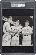 Autographs:Bats, 1960's Mickey Mantle & Roger Maris Signed Magazine Photograph - Maris Signed Twice, PSA/DNA Mint 9. ...