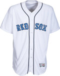Baseball Collectibles:Uniforms, 2016 David Ortiz Father's Day Game Worn Boston Red Sox Jersey. ...