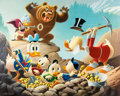 Memorabilia:Disney, Carl Barks Trespassers Will Be Ventilated Signed Limited Edition Lithograph Print #120/345 (Another Rainbow, 1987)...