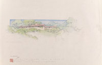 Frank Lloyd Wright (American, 1867-1959) Drawings and Renderings of the Louis B. Frederick House (forty