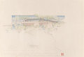Works on Paper, Frank Lloyd Wright (American, 1867-1959). Three Drawings and Renderings of the Maurice Greenberg House, Ottawa (Dousman), ... (Total: 3 Items)