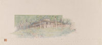Frank Lloyd Wright (American, 1867-1959) Drawing for the Misses Charlcy and Gabrielle Austin House (Broad Margi