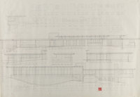 Frank Lloyd Wright (American, 1867-1959) Drawings and Renderings for the John L. Rayward House, New Canaan, Con