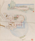 Works on Paper, Frank Lloyd Wright (American, 1867-1959). Drawing for the Harold Price, Jr. House, Bartlesville, Oklahoma, circa 1953. I...