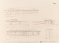 Frank Lloyd Wright (American, 1867-1959) Two Renderings for the David Weisblat Houses, The Acres (Galesburg Cou