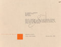 Other, Frank Lloyd Wright (American, 1867-1959). Twenty-Five Blueprints and Renderings for the Usonian Automatic, circa 1955. C... (Total: 26 Items)