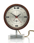Clocks & Mechanical:Clocks, George Nelson & Associates (American, 20th Century). Table Clock, circa 1955, Howard Miller Clock Company. Rosewood, Luc...