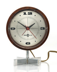 George Nelson & Associates (American, 20th Century) Table Clock, circa 1955, Howard Miller Clock Compan
