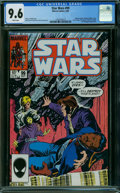 Modern Age (1980-Present):Science Fiction, Star Wars #99 (Marvel, 1985) CGC NM+ 9.6 WHITE pages.