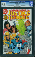 Modern Age (1980-Present):Superhero, Formerly Known as the Justice League #1 (DC, 2003) CGC NM/MT 9.8 WHITE pages.
