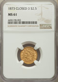 1873 $2 1/2 Closed 3 MS61 NGC. NGC Census: (120/251). PCGS Population: (39/233). CDN: $460 Whsle. Bid for problem-free N...