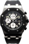 Timepieces:Wristwatch, Audemars Piguet Royal Oak Offshore Steel Automatic Chronograph. ...