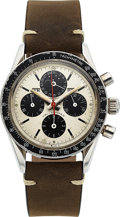 """Timepieces:Wristwatch, Universal Geneve, Tri-Compax """"Eric Clapton"""", Ref. 881101/01, Chronograph Full Calendar And Moon Phase, Circa 1960's. ..."""