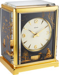 "Timepieces:Clocks, LeCoultre, Rare Full Set, Ref: 5805 Atmos Clock, ""Fond Noir Chinois"" Edition, Circa 1970. ..."