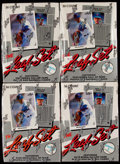 Baseball Cards:Unopened Packs/Display Boxes, 1990 Leaf Baseball Series 1 Wax Box Quartet (4) - Each With 36Unopened Packs. ...