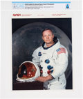 """Explorers:Space Exploration, Neil Armstrong: Later NASA """"Red Number"""" Color Photograph, the Iconic White Spacesuit Photo, Directly From The Armstrong Fa..."""