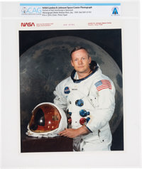 """Neil Armstrong: Later NASA """"Red Number"""" Color Photograph, the Iconic White Spacesuit Photo, Directly From The..."""
