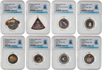 Apollo: Collection of Eight Original Enameled Mission Insignia Charms Directly From The Armstrong Family Collectio