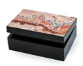 Lapidary Art:Boxes, Crazy Lace Agate Box. Stone Source: Mexico. Artist: Konstantin Libman. 3.86 x 2.68 x 1.52 inches (9.80 x 6.80 x 3.85 cm)...