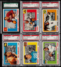 Football Cards:Singles (1960-1969), 1955 Topps All-American Football Graded Collection (20)....