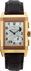 Timepieces:Wristwatch, Jaeger-LeCoultre, Grande GMT Reverso, Duo Face,18K Rose Gold, Ref.240.218, Circa 2000s. ...