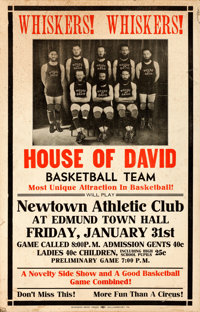 """House of David and Other Lot (Business Men's Press, c. 1936) Window Cards (2) (14"""" X 22""""). ... (Total: 2 Items..."""