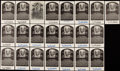 Autographs:Post Cards, Carl Hubbell Signed Hall of Fame Plaque Postcard Collection (22)....
