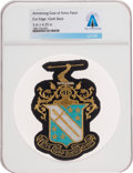 Explorers:Space Exploration, Neil Armstrong: Phi Delta Theta Blazer Patch, Directly from the Armstrong Family Collection, Certified and Encapsulated by Col...