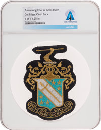 Neil Armstrong: Phi Delta Theta Blazer Patch, Directly from the Armstrong Family Collection, Certified and Encapsulated...