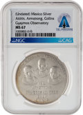 Explorers:Space Exploration, Apollo 11: Guaymas, Mexico Observatory Apollo 11 Commemorative Silver Medal MS 67 NGC, Directly From The Armstrong Family Coll...
