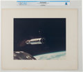 Explorers:Space Exploration, Gemini 8: Large Agena Target Vehicle Vintage NASA Color Photo on Presentation Mat Directly From The Armstrong Family Colle...