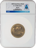 Explorers:Space Exploration, X-15: 30th Anniversary 1959-1989 Commemorative Brass Medal MS 65 NGC, Directly From The Armstrong Family Collection™, Cert...